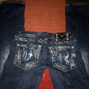 Miss me jeans size 25 bootcut junior woman's 0